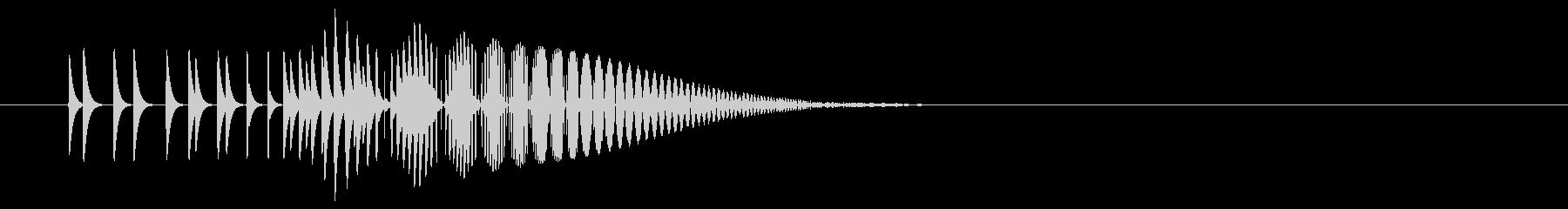 ポンッ(決定キャンセルピコピコファミコンの未再生の波形