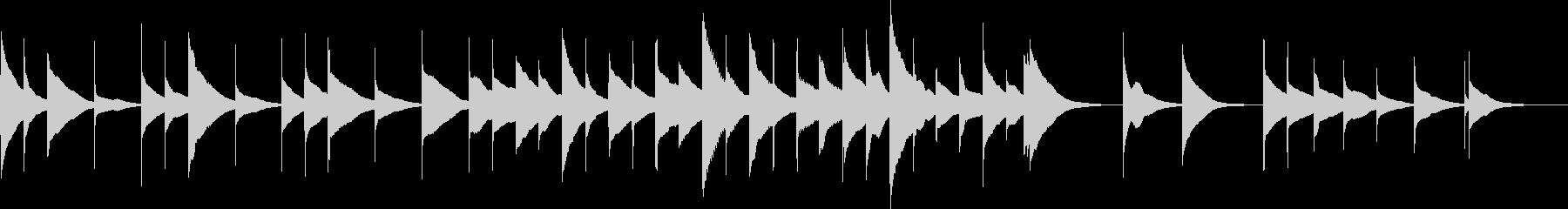 オルゴールの優しいショートミュージックの未再生の波形