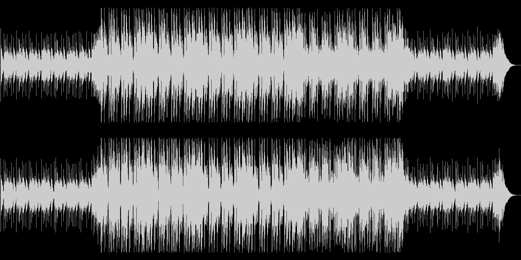 落ち着きのあるフューチャーベース系楽曲の未再生の波形