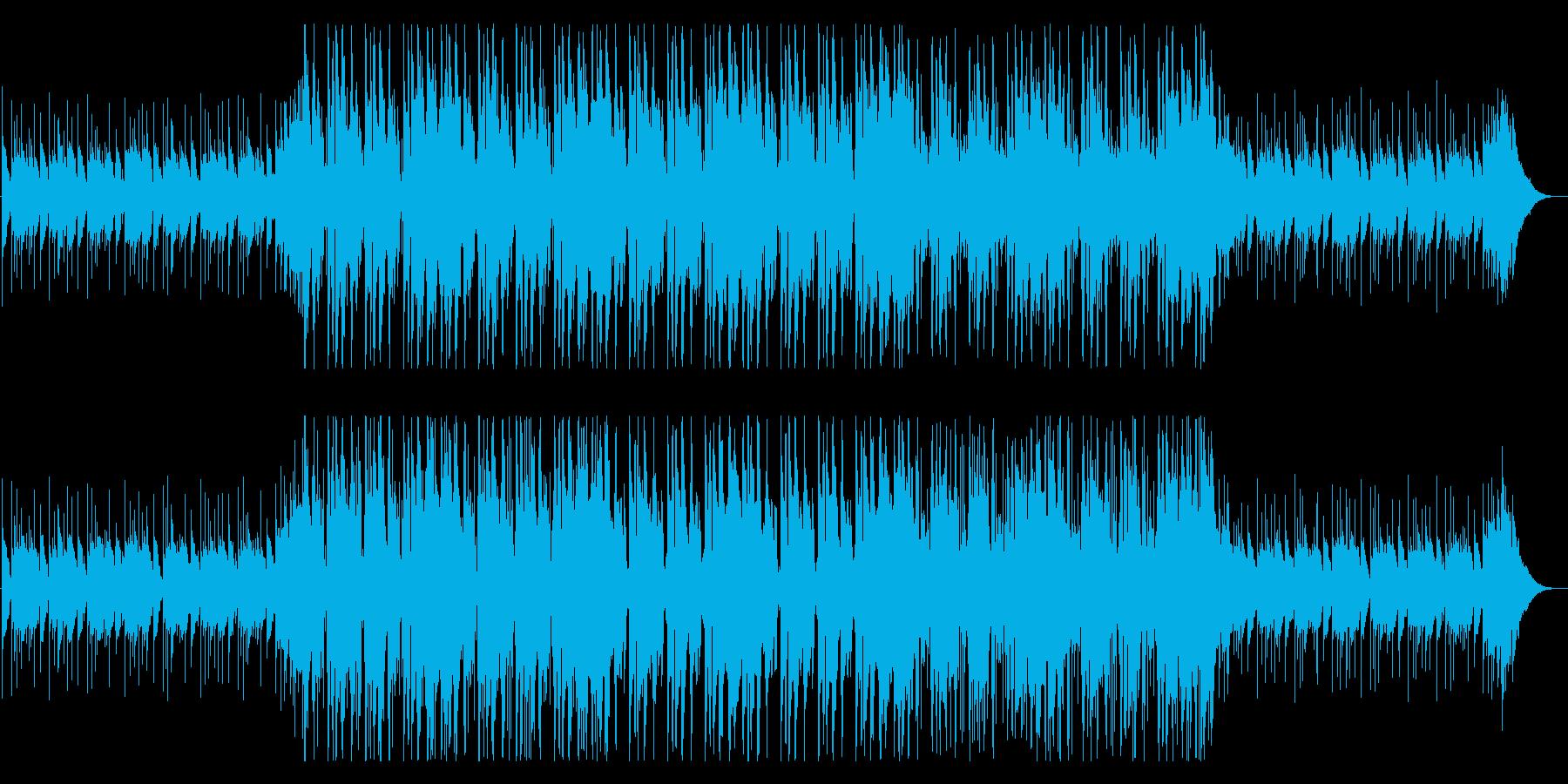 落ち着きのあるフューチャーベース系楽曲の再生済みの波形