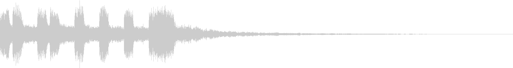 シンプル アナログ ファンファーレ 01の未再生の波形