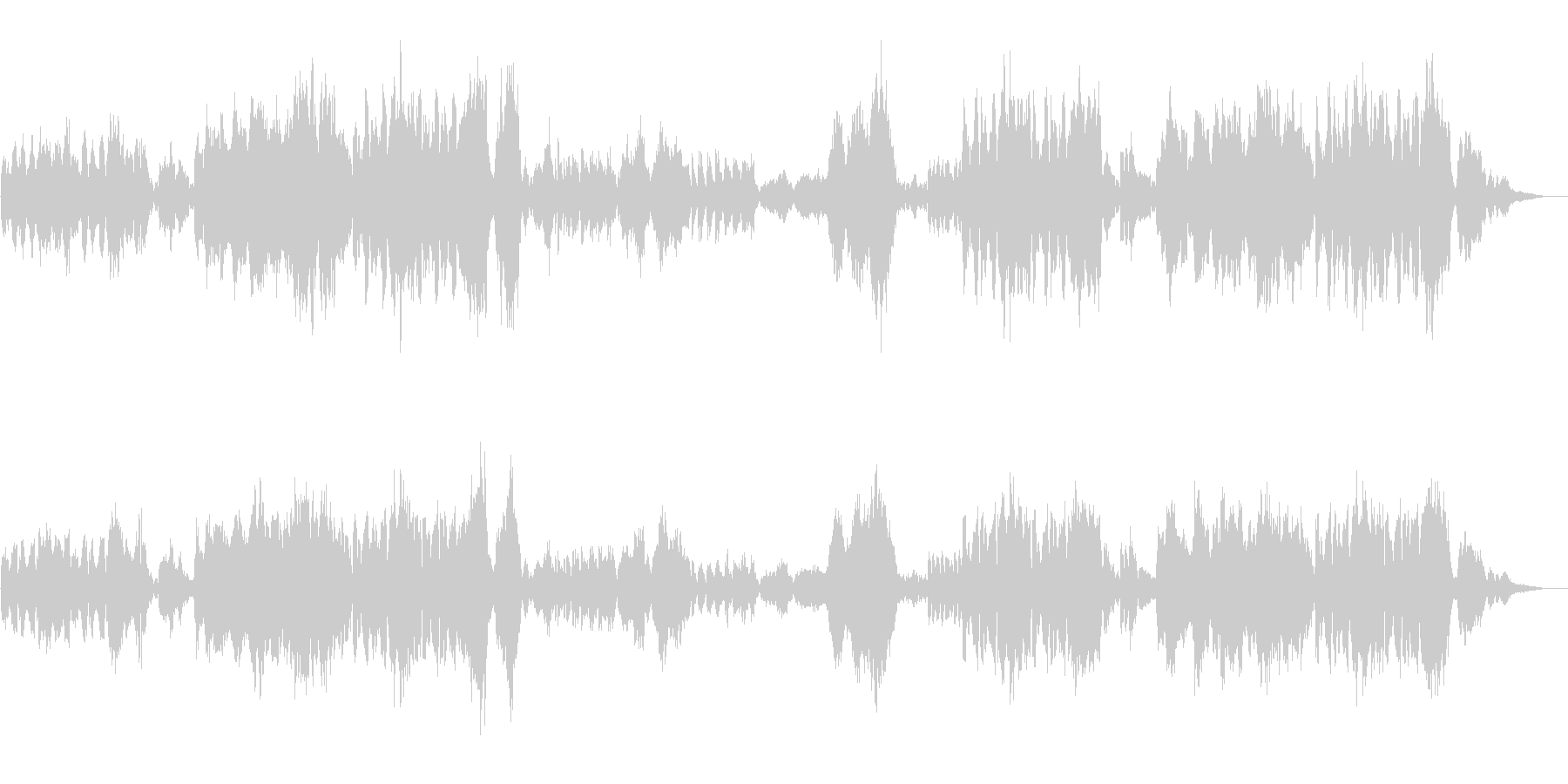 ワーグナーの結婚行進曲の未再生の波形