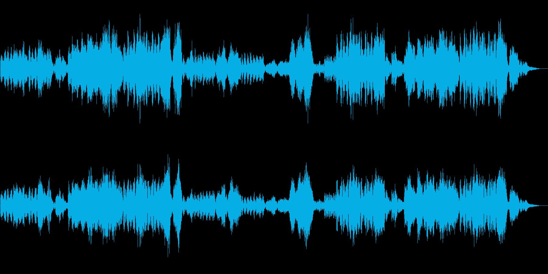ワーグナーの結婚行進曲の再生済みの波形