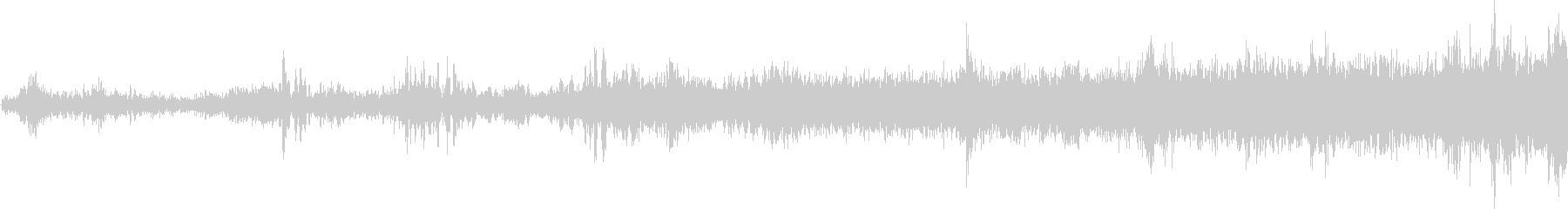 モノレール発車(車内で録音)の未再生の波形