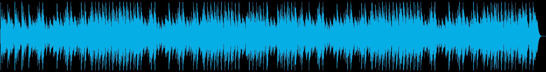 音階のあるゆっくり甘いオルゴールの曲の再生済みの波形