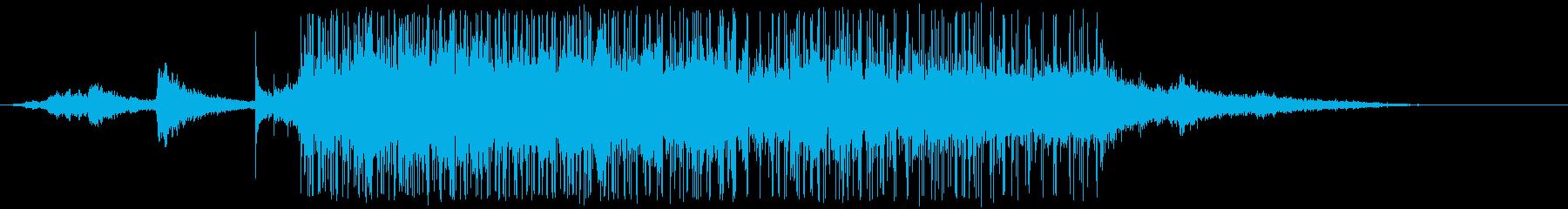 ブラインド信号の再生済みの波形