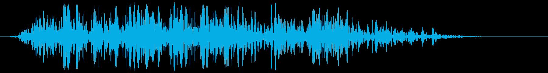 箱(動かす、引きずる)カラカラカラの再生済みの波形