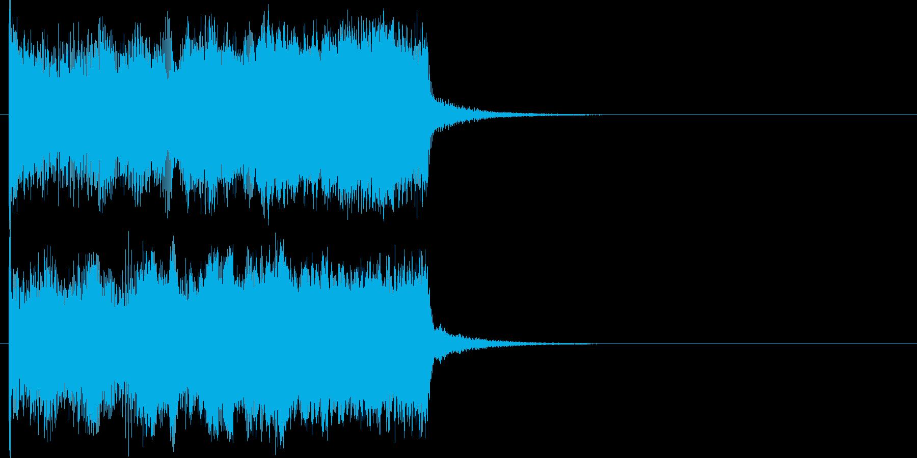 機械的な上昇音の再生済みの波形