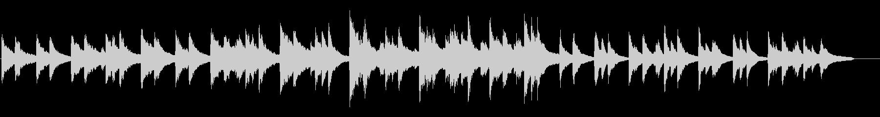 感動的なポップピアノの未再生の波形