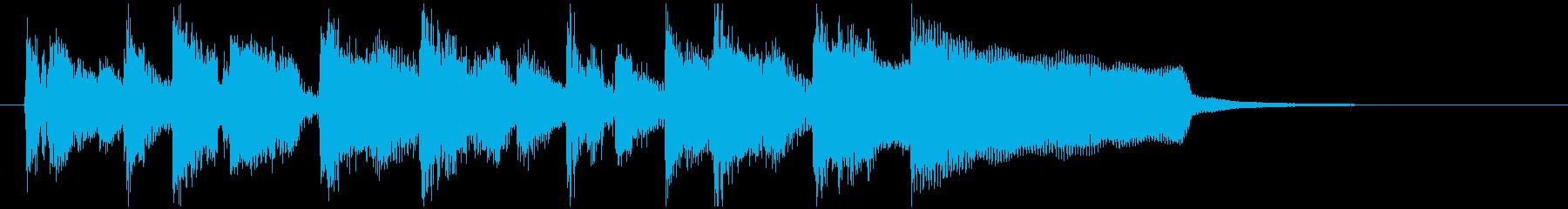 軽快リズムほのぼの明るいラテン系ジングルの再生済みの波形