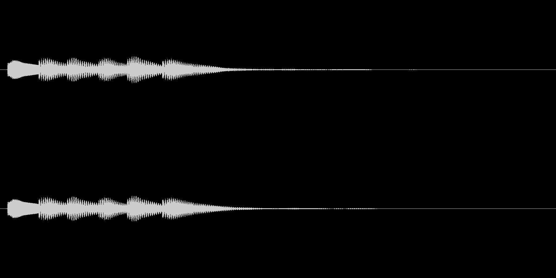 クイズで正解した時などに使われる効果音…の未再生の波形