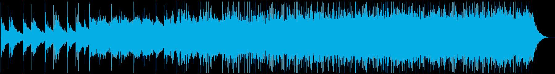 空虚・孤独を表現したピアノと電子音の再生済みの波形