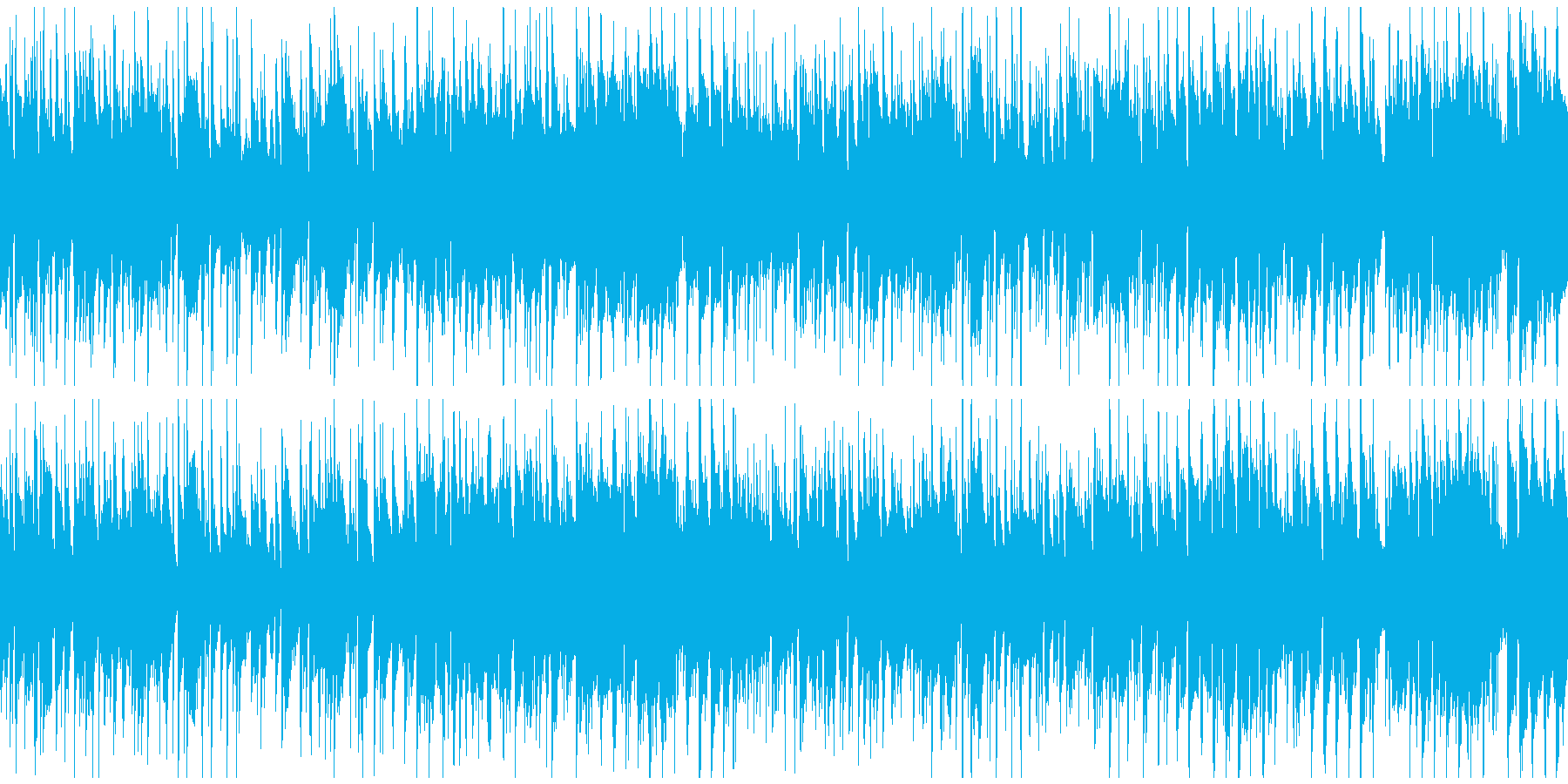 エキサイティングなクラブジャズ※ループ版の再生済みの波形