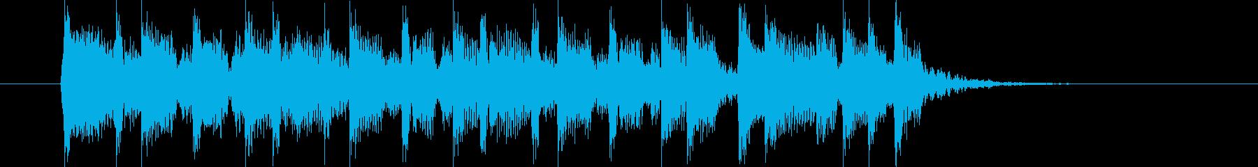 元気で明るいハネ感のある短い曲の再生済みの波形