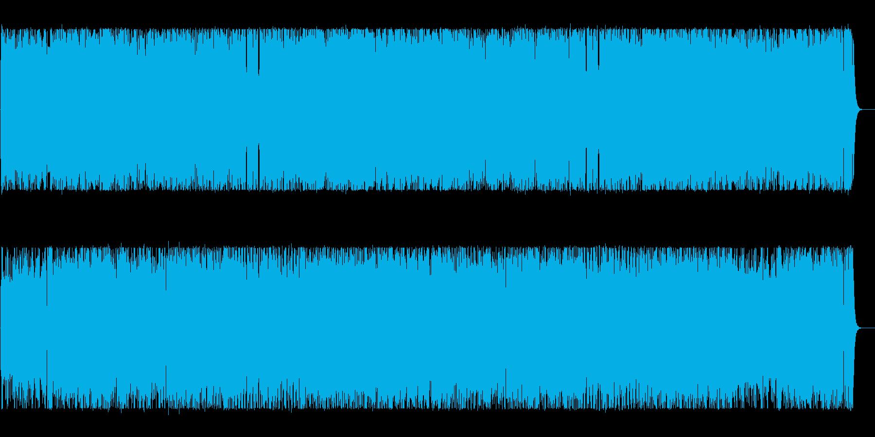 リズミカルで可愛いポップなBGMの再生済みの波形