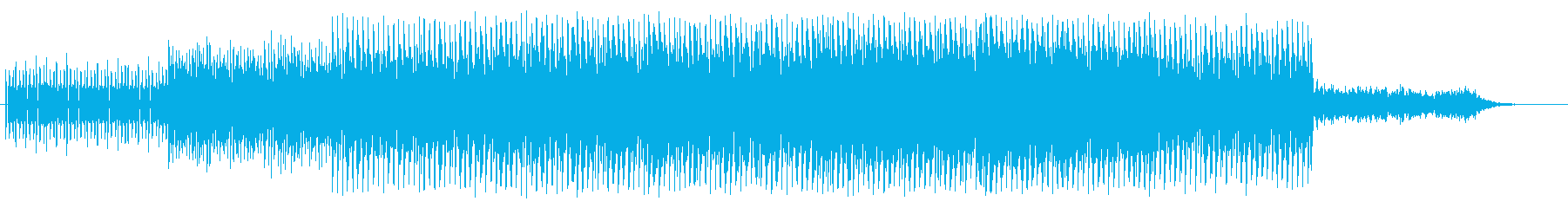 疾走感のあるトランステクノですの再生済みの波形