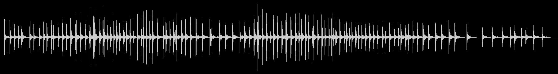テープガン:長く誇張されたストレッチプルの未再生の波形