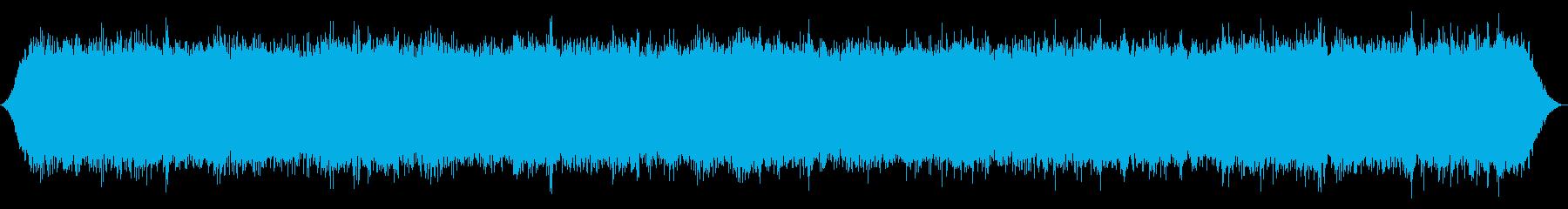 川:上から重い速い流れとRo音の再生済みの波形