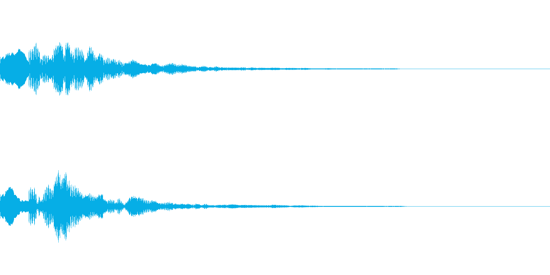 ピロリン(綺麗で透明感のある決定音)の再生済みの波形