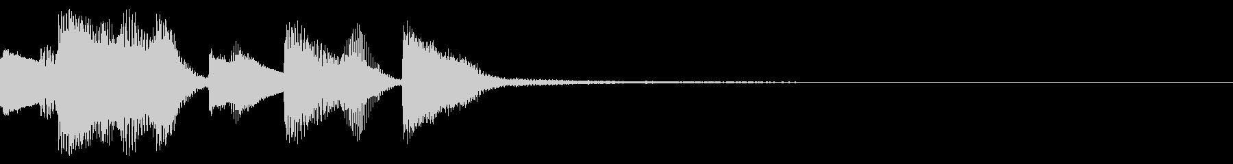 ラグタイム風のピアノの速いフレーズの未再生の波形