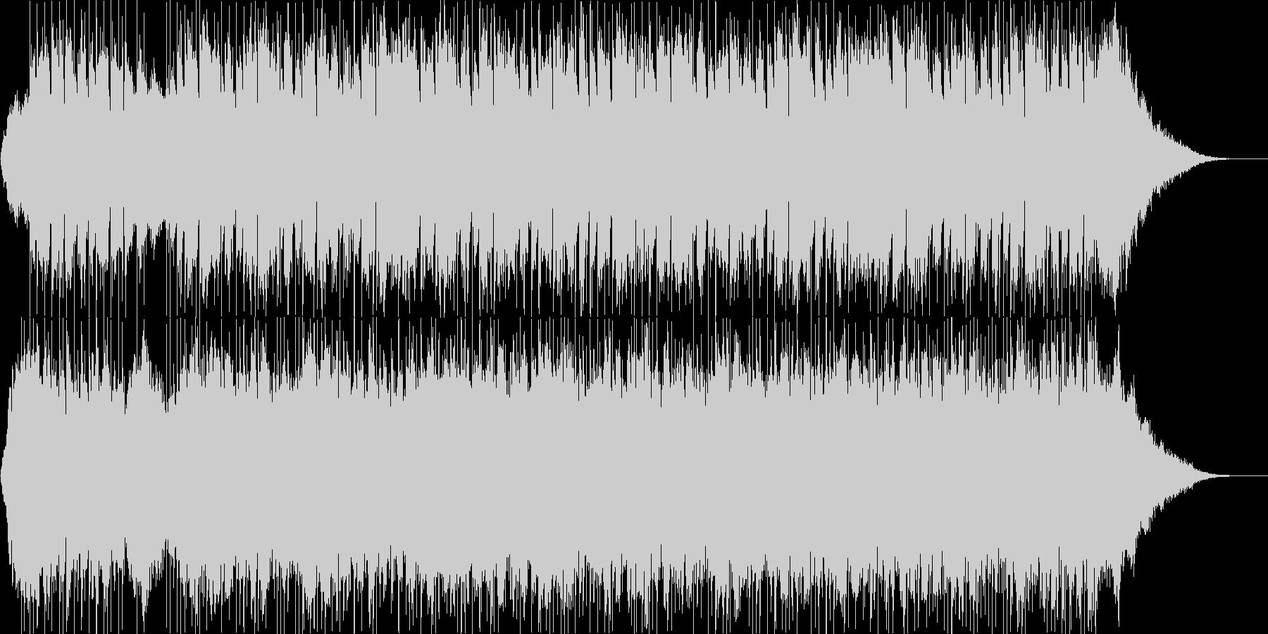 疾走感溢れるピアノエレクトロサウンドの未再生の波形