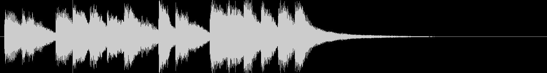 シンプルなかわいいメロディの未再生の波形