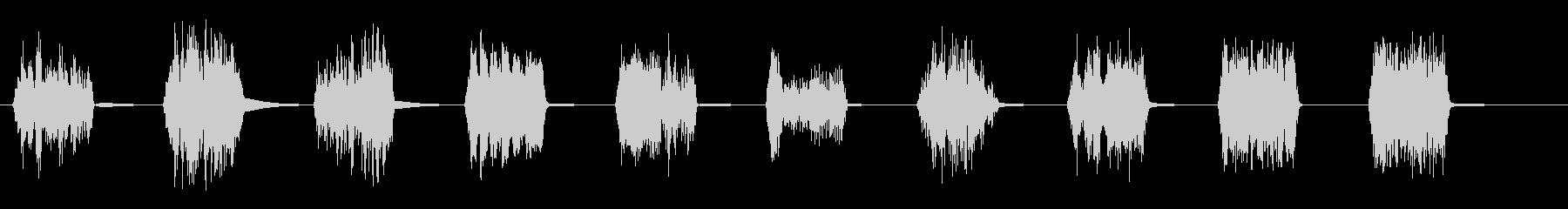 高速スパッタバースト2の未再生の波形