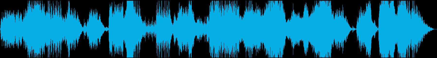 山の朝と大自然のアンビエントBGMの再生済みの波形