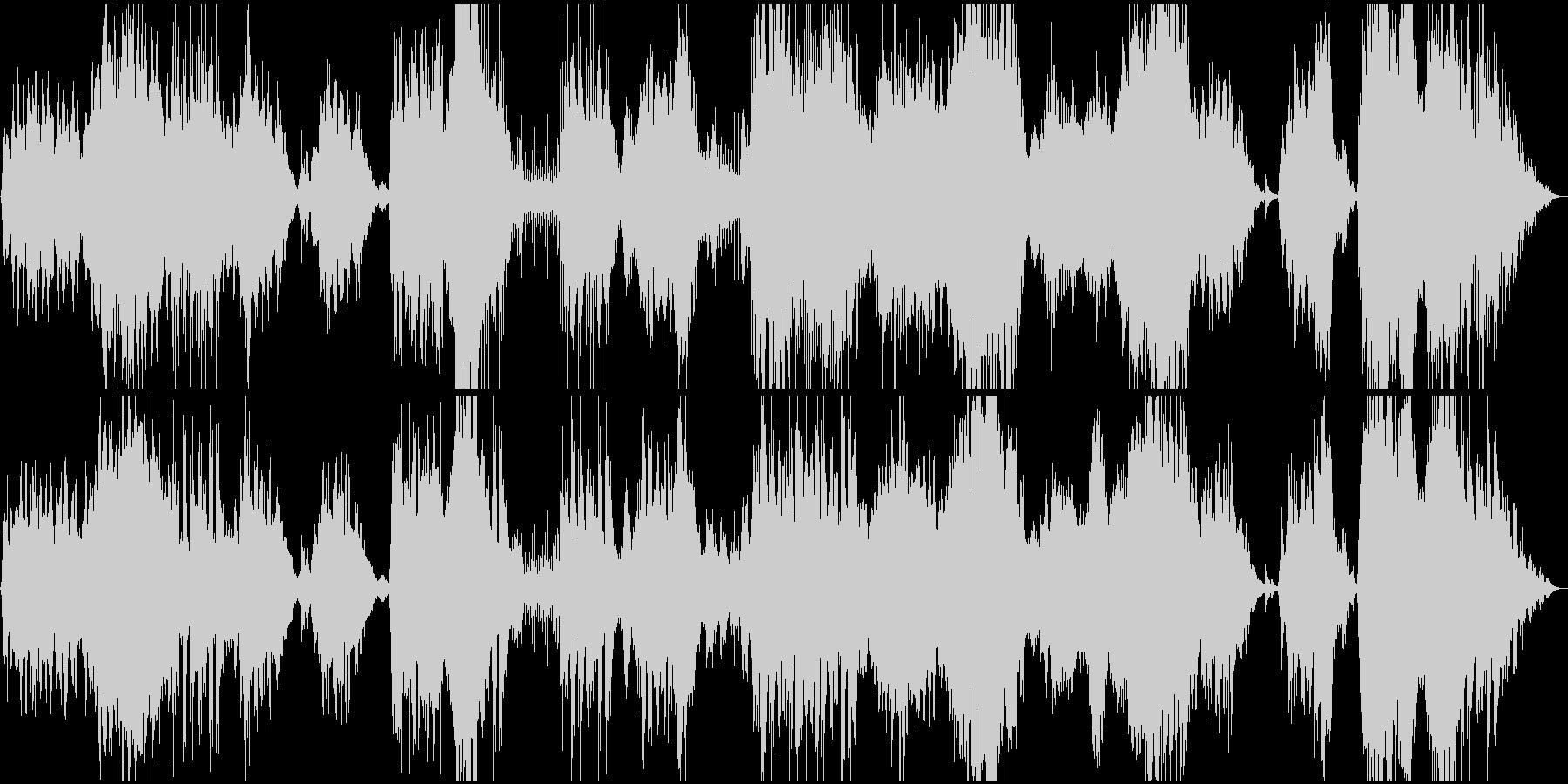 山の朝と大自然のアンビエントBGMの未再生の波形