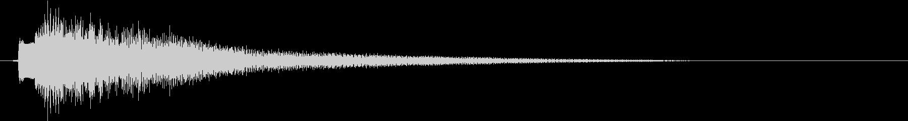 インドのシタール(ジャラーン)の未再生の波形