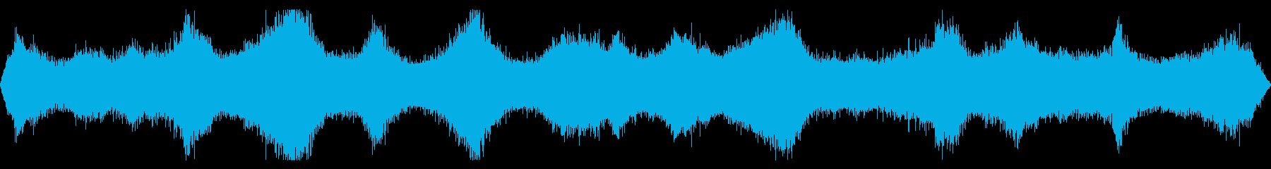 木に覆われた場所から録音した遠くの波の音の再生済みの波形