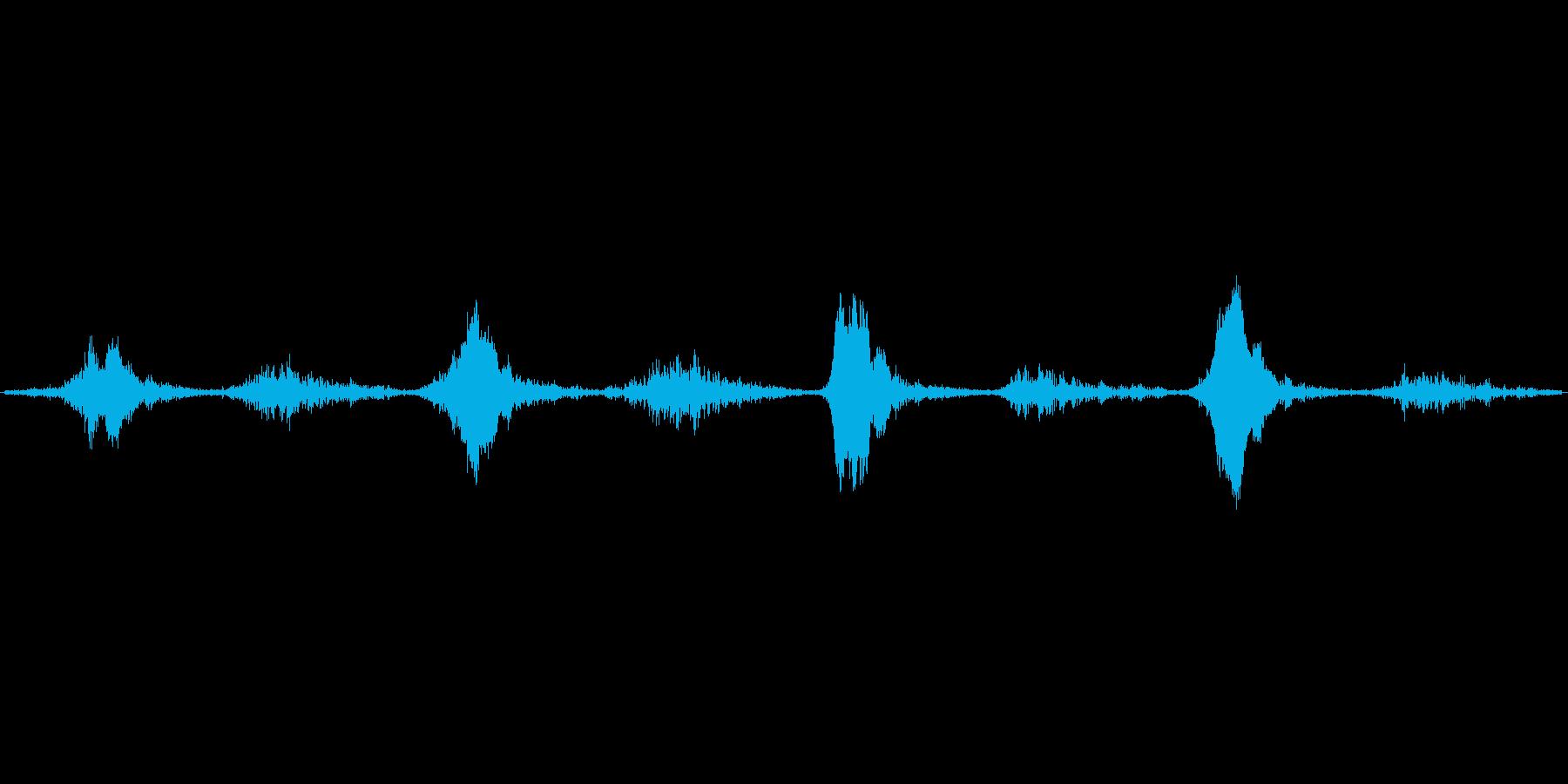 うーふーうーふーうーふーうーふーの再生済みの波形