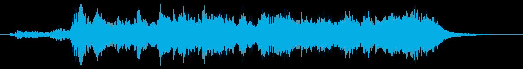 ほのぼのとしたオーケストラジングルの再生済みの波形