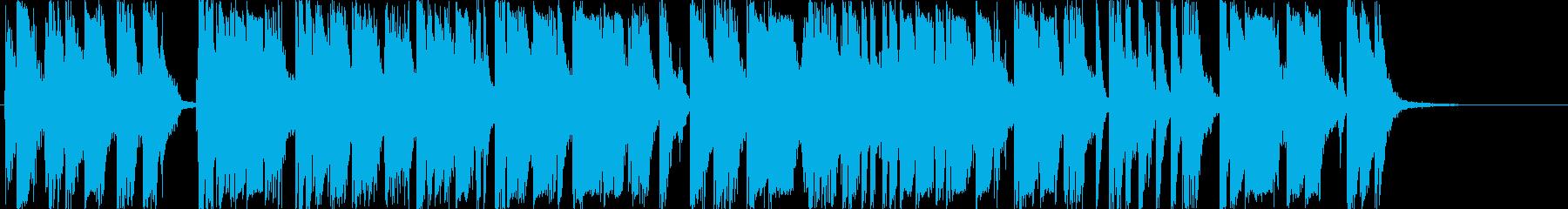 爆竹/銃撃戦「パンパンパパン」20秒の再生済みの波形