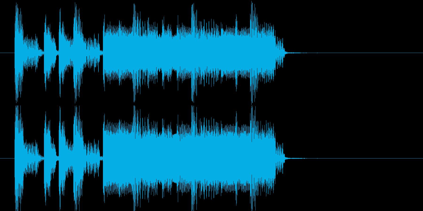 勝利のファンファーレ①  レトロゲーム風の再生済みの波形