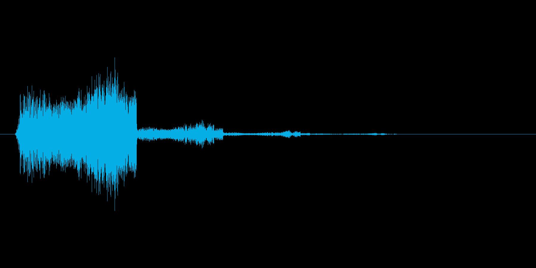 アイテムゲットの音やスマホアプリの決定…の再生済みの波形