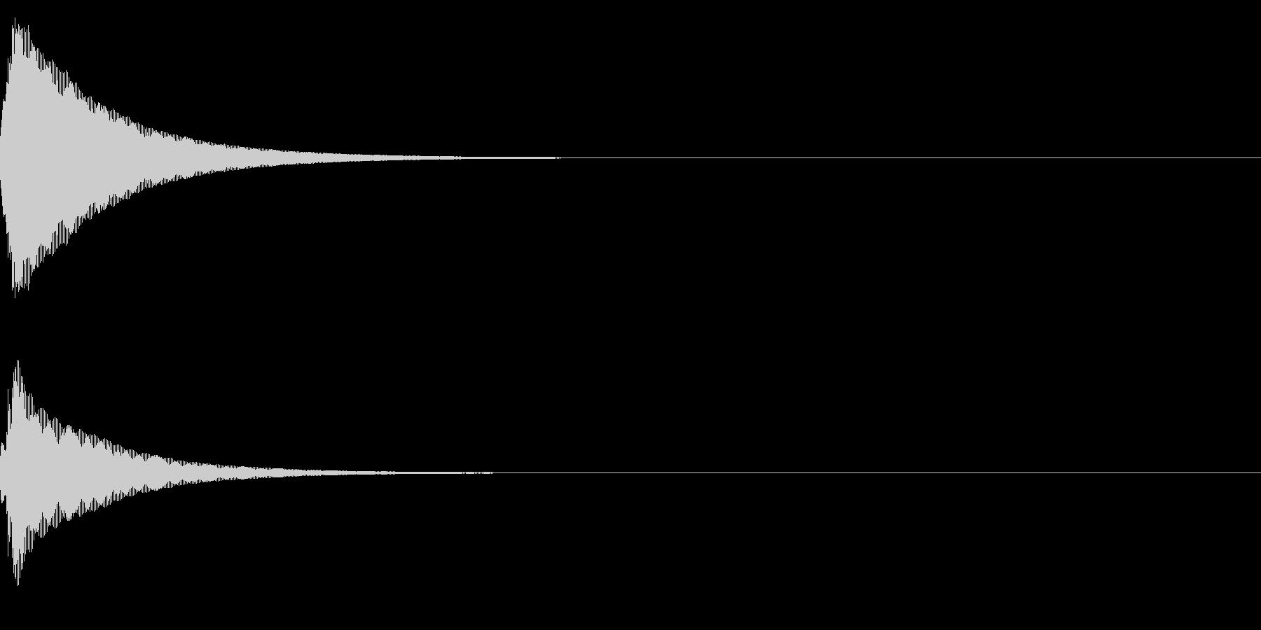 決定 セレクト (上昇音)15の未再生の波形