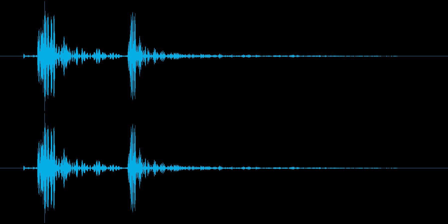 パカッ・ふたを開ける(低)の再生済みの波形