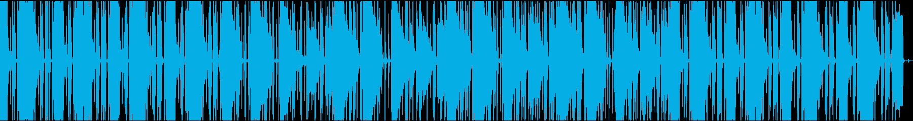 ざらざらしたアナログ感とユルいビートの再生済みの波形