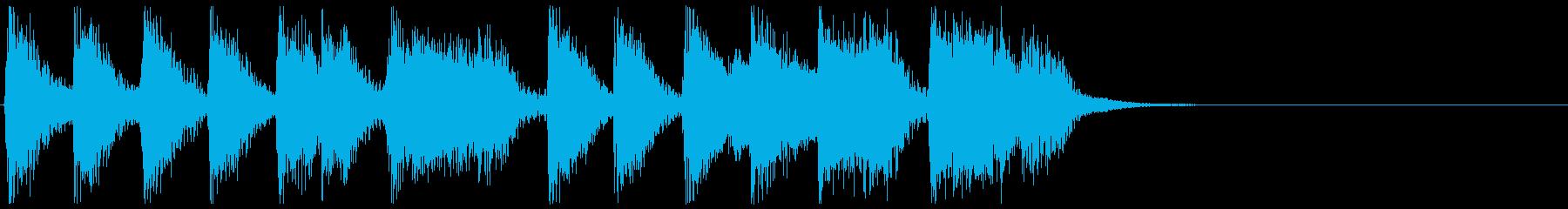 陽気で激しい ビッグバンドジャズジングルの再生済みの波形