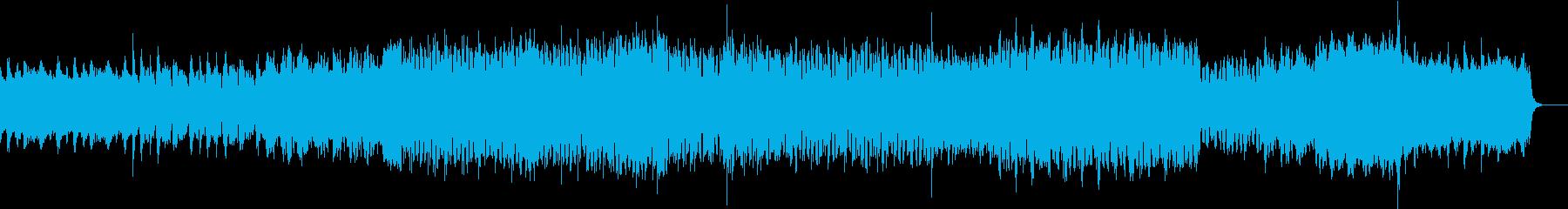 シューティングゲームにありそうな曲の再生済みの波形