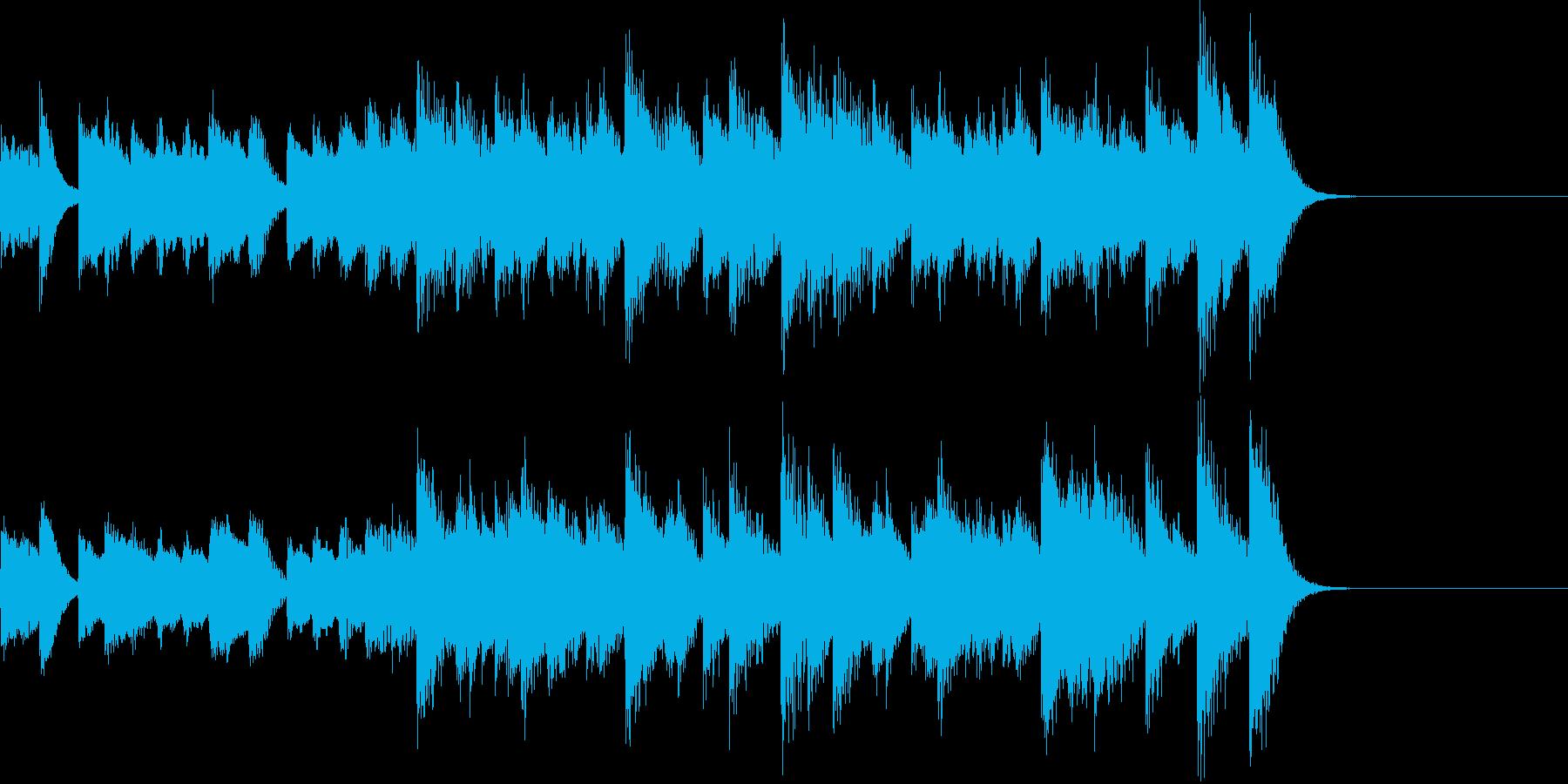 ベースラインがクールな男前ピアノジングルの再生済みの波形