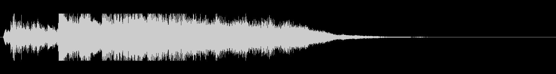 余韻残るピアノ中心~煌びやかな場面転換にの未再生の波形