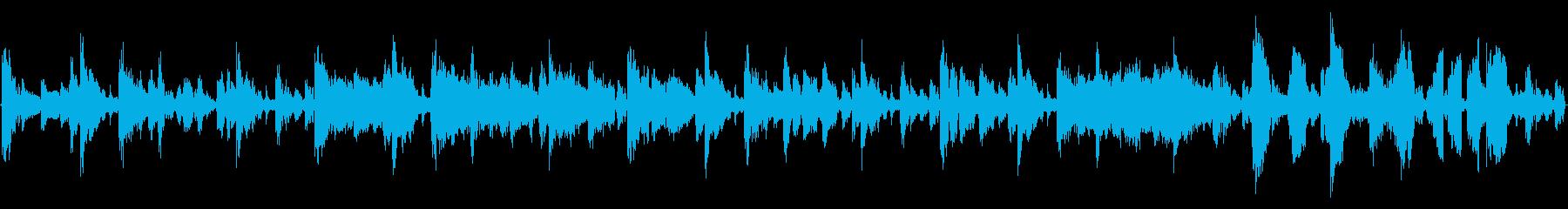 シンプルなダブステップの再生済みの波形