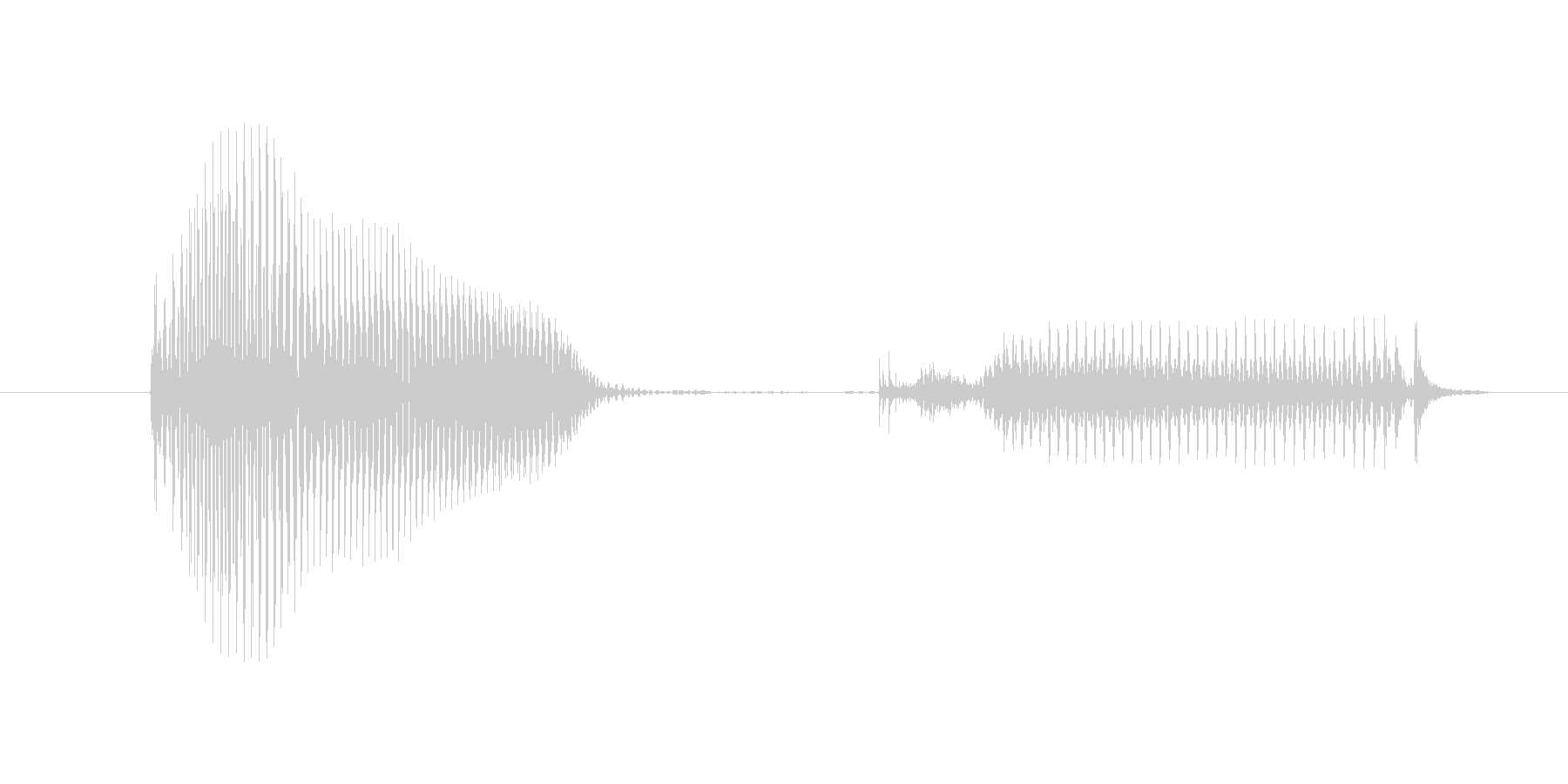OK(おーけ)の未再生の波形