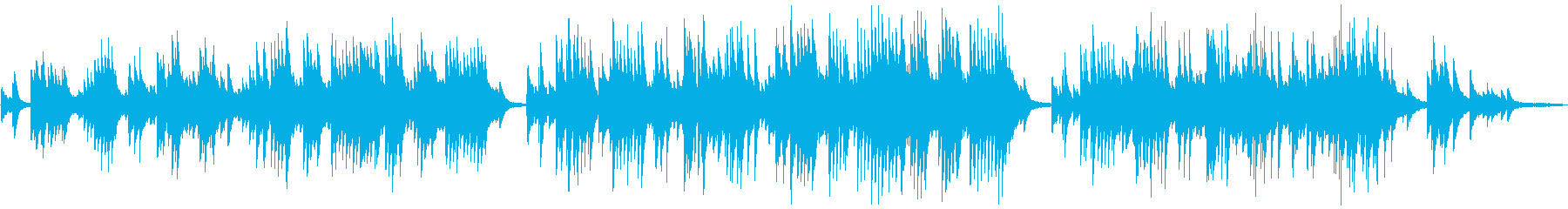 美しく切ない癒しのピアノバラードの再生済みの波形