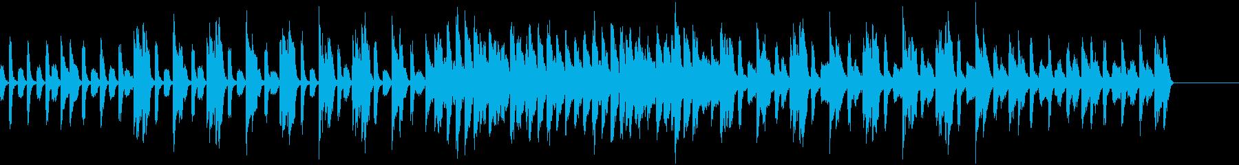 ほのぼのした子供をイメージしたBGMの再生済みの波形