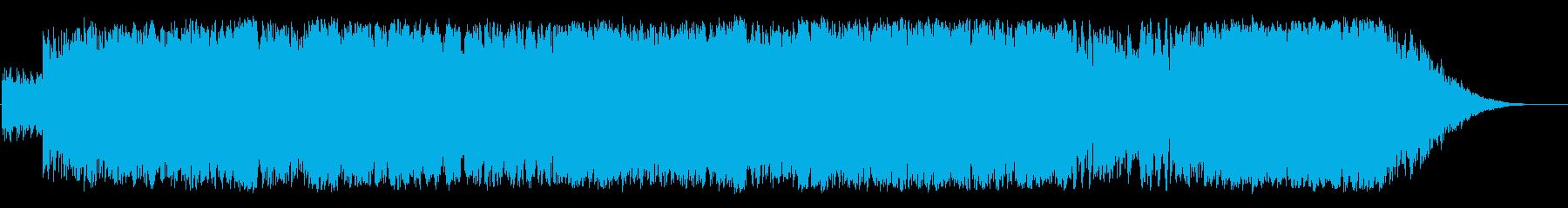 青空の中の戦闘機の再生済みの波形