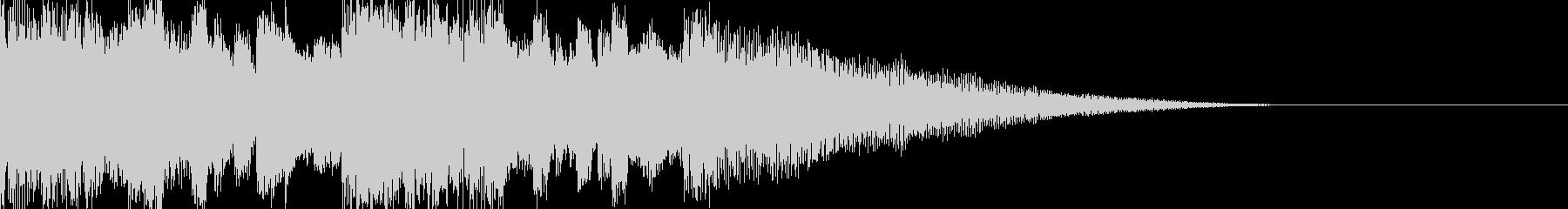 細かい雑音混じりの温かみのあるジングルの未再生の波形