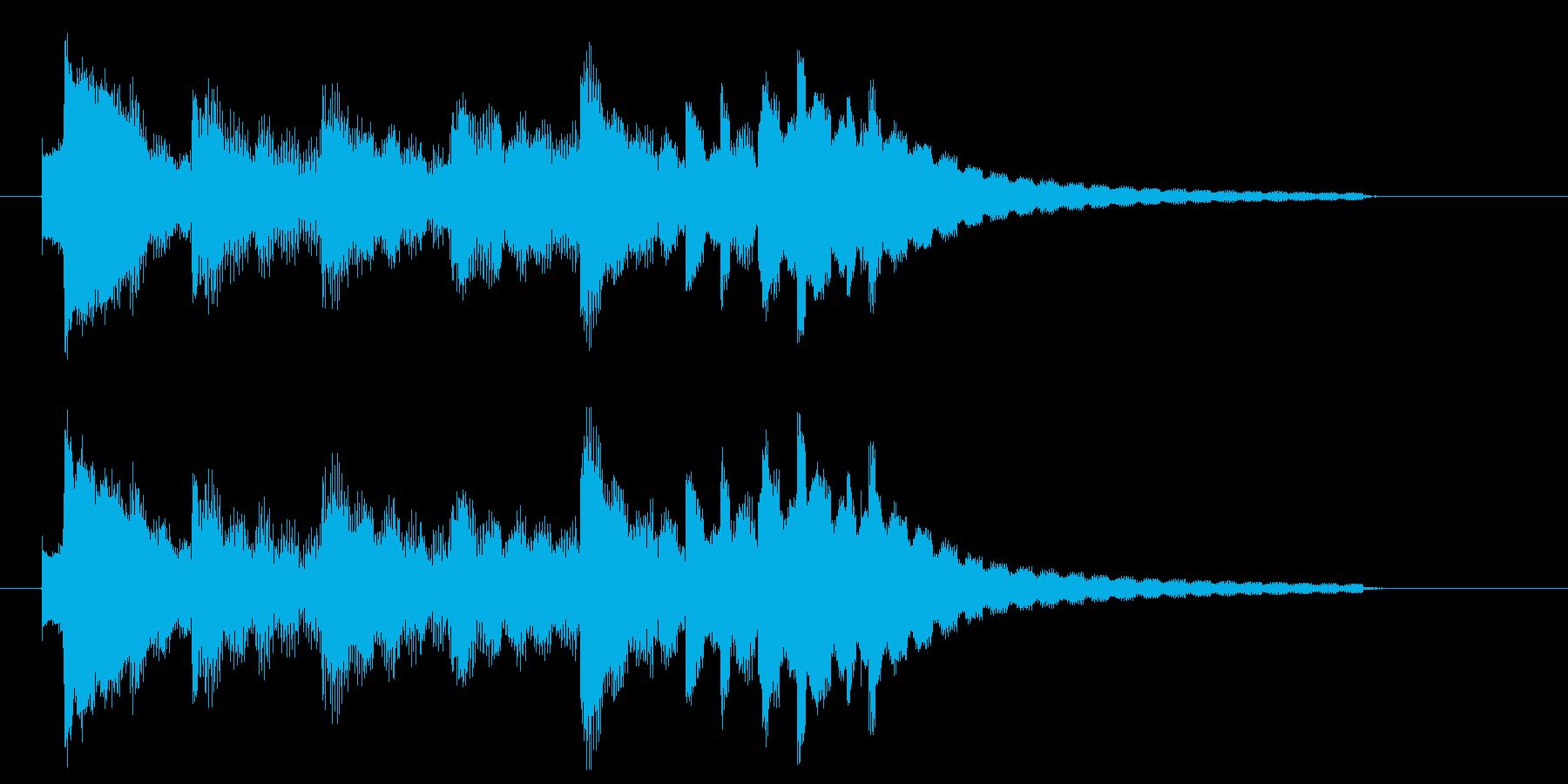 眠りを連想させる穏やかなジングル1の再生済みの波形